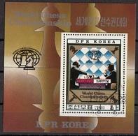 DPR Korea 1980 Sc. 2010 World Chess Championship Merano Scacchi Korchnoi  Karpov CTO - Corea Del Nord