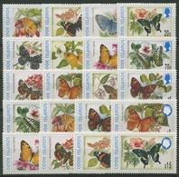 Cook-Inseln 1997/98 Schmetterlinge Komplett 1470/81, 1484/86, 1489/93 Postfrisch - Cookinseln