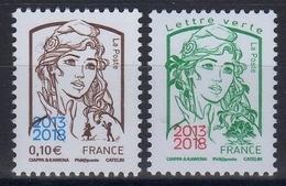 "2018 "" PAIRE MARIANNE DE CIAPPA N° 5234-35 / 0.10 € + LV SURCHARGEE 2013-2018 "" / NEUVE RARE ET SUPERBE - 2013-... Marianne De Ciappa-Kawena"