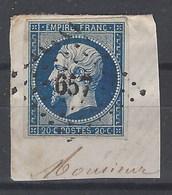 Francia U   14 (o) Sobre Fragmento. 1853. Napoleon III - 1853-1860 Napoleone III