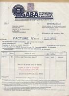 N°651 Iris Sur Facture Avec Entête Des Pastilles Wibert établissement GABA St Pourçain 20/11/44 - Postmark Collection (Covers)