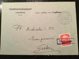 Lettre Nachgebühr - 1940-1944 German Occupation
