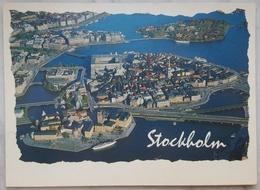 STOCKHOLM - Sverige - Flygpanorama - Air View  VG - Svezia