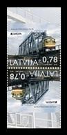Latvia 2018 Mih. 1043D Europa-Cept. Bridges. Railway Bridges. Locomotive MNH ** - Letonia