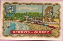 22 PERROS-GUIREC - Adhésif 6 X 9,6 Cm - Autocollant - Perros-Guirec
