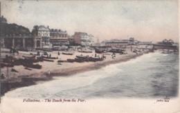FOKESTONE - THE BEACH FROM THE PIER. - Folkestone