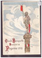 FORMAT 10x15cm - DISTRICT DE PAYERNE - PAYERNE - TIR CANTONAL VAUDOIS 1928 - B ( LEGER PLI EN HAUT ) - VD Vaud