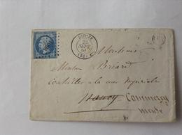 Dieuze 4 Lettres 1846/63 TB - Alsace-Lorraine
