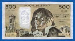 500 Fr Du  7/6/1979 - 500 F 1968-1993 ''Pascal''