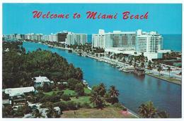 MIAMI BEACH (USA-Floride) - Vue Aérienne Des Nouveaux Hôtels Et Appartements Luxueux - Format CPA -Scan Recto-Verso - Miami Beach