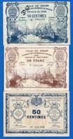 Rouen  3  Billets - Chambre De Commerce
