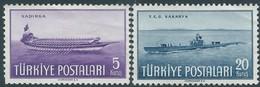 Turchia Turkey 1949  Republic -  Navy Day , 5 & 20K - MNH - 1921-... Republic
