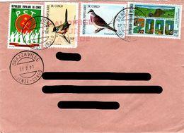 CONGO,    Letter,    Bird      /     RÉPUBLIQUE  Du  CONGO,    Lettre,   Oiseau    1991 - Oiseaux