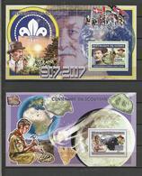 Guinée YT**  2 BF 376  Baden Powell  Centenaire Scoutisme - Ongebruikt