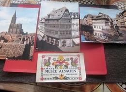MUSEE ALSACIEN A SRASBOURG Carnet 20 Cartes Postales Anciennes [complet]+3 CPSM Grand Format Avec Cachet Tour Cathedrale - Musées