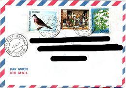 CONGO,    Letter,    Bird,   Flower      /     RÉPUBLIQUE  Du  CONGO,    Lettre,   Oiseau,   Fleur,    1991 - Pigeons & Columbiformes