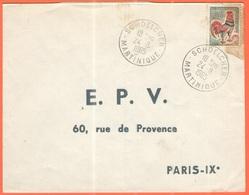 FRANCIA - France - 1965 - 0,30 Coq De Decaris - Viaggiata Da Schœlcher, Martinique Per Paris - 1962-65 Cock Of Decaris