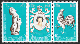 New Hebrides - Scott #278abc MNH - French - Strip Of 3 - Unused Stamps