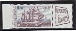 """CV10 - TAAF - PA85** MNH De 1984 Avec Vignette - Navire Scientifique """" GAUSS """" - Terres Australes Et Antarctiques Françaises (TAAF)"""