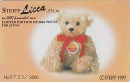 Télécarte Japon / 110-011 - Jouet - OURS NOUNOURS - STEIFF TEDDY BEAR * GERMANY Rel. ** Japan Phonecard 2000 EX - 700 - Games
