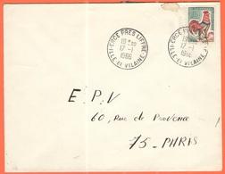 FRANCIA - France - 1966 - 0,30 Coq De Decaris - Viaggiata Da Ercé-près-Liffré Per Paris - 1962-65 Cock Of Decaris