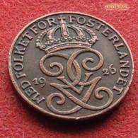 Sweden 1 Ore 1926 KM# 777.2  Suede Suecia Sverige Svezia - Suède