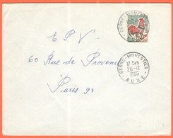 FRANCIA - France - 1966 - 0,30 Coq De Decaris - Viaggiata Da Cenne-Monestiés Per Paris - 1962-65 Cock Of Decaris