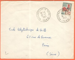 FRANCIA - France - 1965 - 0,30 Coq De Decaris - Viaggiata Da Villeneuve-sur-Vère Per Paris - 1962-65 Cock Of Decaris