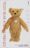 Télécarte Japon / 110-011 - Jouet - OURS NOUNOURS - STEIFF TEDDY BEAR * GERMANY Rel. ** Japan Phonecard - 702 - Games