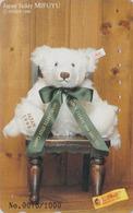 Télécarte Japon / 110-016 - Jouet - OURS NOUNOURS - STEIFF TEDDY BEAR * GERMANY Rel. ** Japan Phonecard 1000 EX - 705 - Games