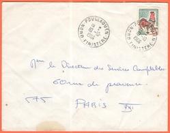 FRANCIA - France - 1966 - 0,30 Coq De Decaris - Viaggiata Da Poullaouen Per Paris - 1962-65 Cock Of Decaris