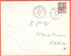 FRANCIA - France - 1966 - 0,30 Coq De Decaris - Viaggiata Da Croix-Sainte Per Paris - 1962-65 Cock Of Decaris
