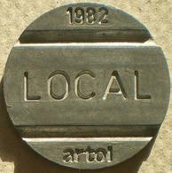 Brasil Telephone Token  1982 LOCAL Artol  Logo 9 - Monetary /of Necessity