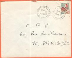 FRANCIA - France - 1966 - 0,30 Coq De Decaris - Viaggiata Da Saint-Estève Per Paris - 1962-65 Cock Of Decaris