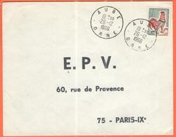 FRANCIA - France - 1966 - 0,30 Coq De Decaris - Viaggiata Da Aube Per Paris - 1962-65 Cock Of Decaris