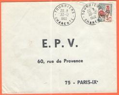 FRANCIA - France - 1966 - 0,30 Coq De Decaris - Viaggiata Da Tourriers Per Paris - 1962-65 Cock Of Decaris