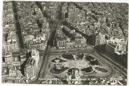 W1021 Barcelona - Plaza Cataluna Desde El Aire / Viaggiata 1955 - Barcelona