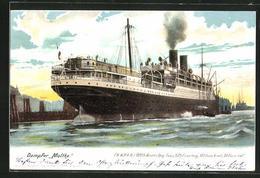 AK Dampfer Moltke Der H.A.P.A.G. Im Hafen - Steamers