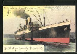 AK Schnelldampfer Moltke Am Hafen - Steamers