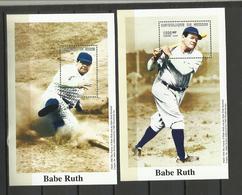 Guinée YT**   BF 167/68 Base Ball  Babe Ruth - Beroemde Personen