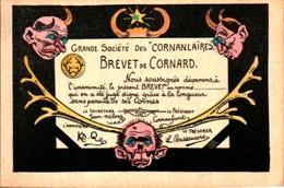 Humour 591 Cocu Cornes, Brevet De Cornard Société Des Cornanlaires - Humour