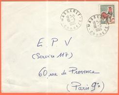 FRANCIA - France - 1965 - 0,30 Coq De Decaris - Viaggiata Da Masseret Per Paris - Frankreich