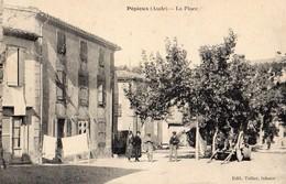 Pepieux  11   La Place Tres Animée - Autres Communes