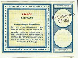 COUPON REPONSE INTERNATIONAL à 1.00F Franc  Beauvais - Antwortscheine