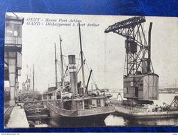 Gent-Gand/-uitladen Van De Goederen In Haven-déchargement à Port Arthur - Gent