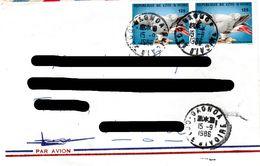 IVORY  COAST,   Letter,  Bird       /      CÔTE D` IVOIRE,  Lettre,  Oiseau,         1986 - Parrots