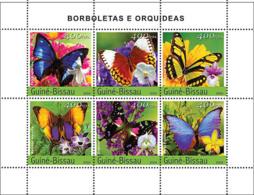 Guinea Bissau 2004 Butterflies & Orchids - Guinea-Bissau
