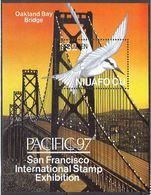 Tonga 1997 Niuafo'ou  Oakland Bay Bridge Specimen S/S - Tonga (1970-...)