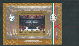 Italia, Italy, Italien 2018; Tricolor Flag ( Green, White, Red ): Aula Di Montecitorio, Italian Members. - Francobolli