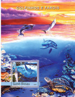 Guinea Bissau 2004  Dolphins & Lighthouses  ,fauna - Guinea-Bissau